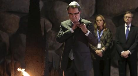 Artur Mas reivindica Joaquim Amat-Piniella des d'Israel i critica la banalització del nazisme