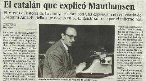 """""""El País"""" informa de l'exposició sobre """"el català que explicà Mauthausen"""""""