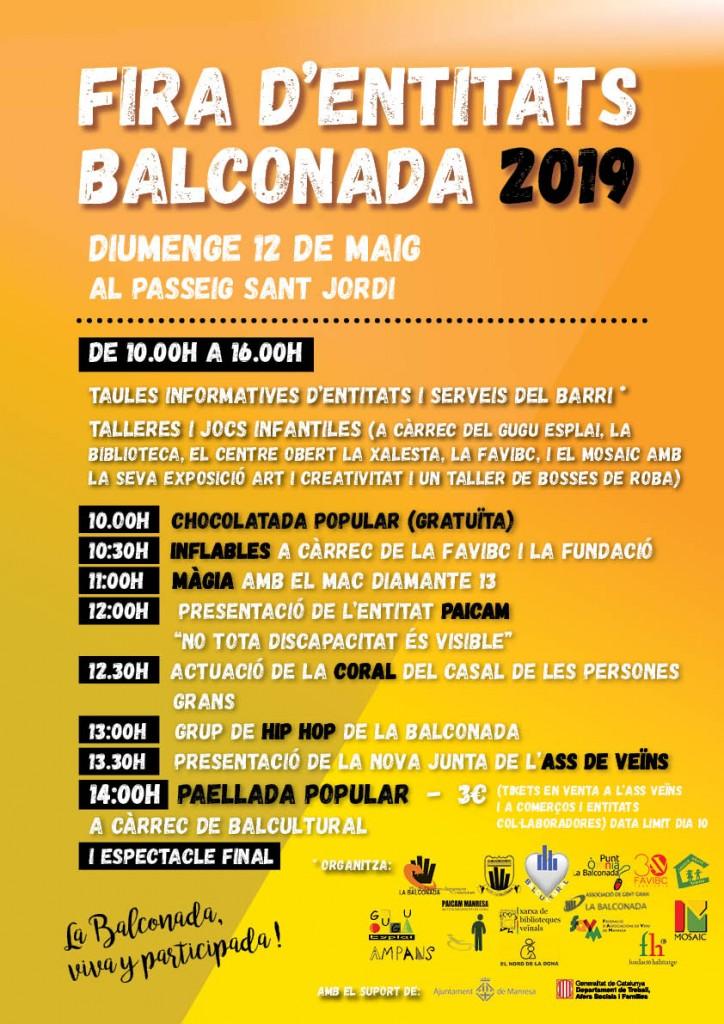 De nou, diumenge arriba la Fira d'Entitats de la Balconada!