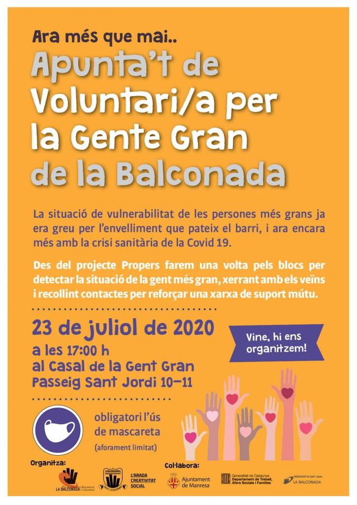 Voluntari/es per la gent gran, trobem-nos!