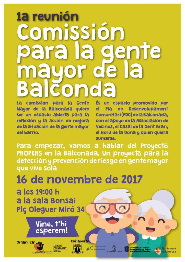 La Balconada unida per la gent gran!