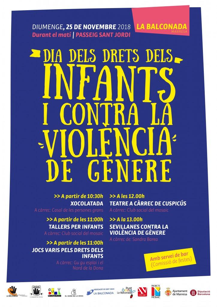 DIUMENGE, Dia dels Drets dels INFANTS i contra la VIOLÈNCIA de GÈNERE!!!