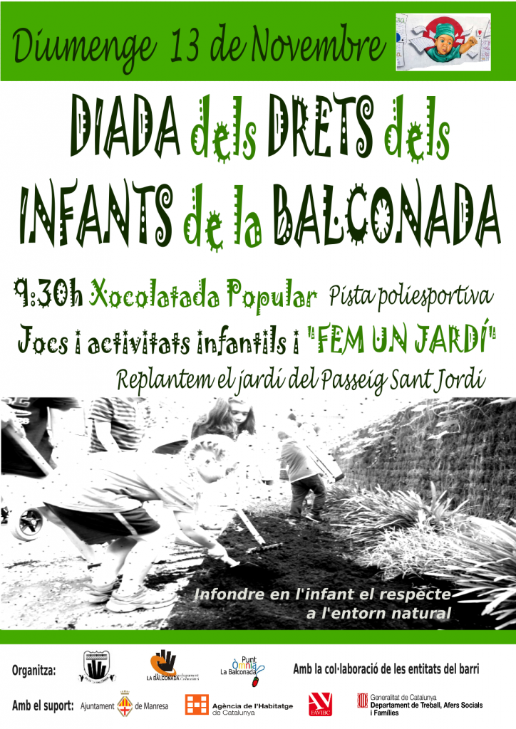 (13 de Novembre) Diada dels Drets dels Infants a la Balconada