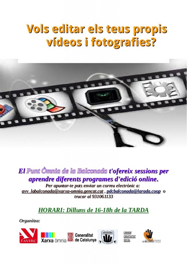 Nou taller d'edició de vídeo!