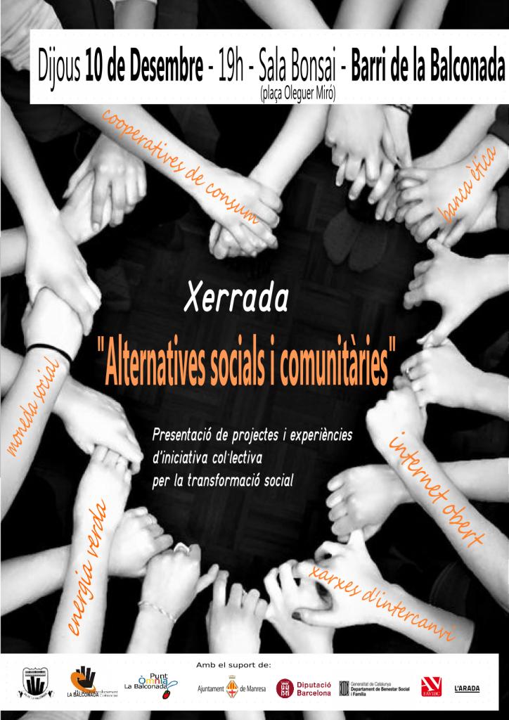 """Xerrada-debat """"Alternatives socials i comunitàries"""""""